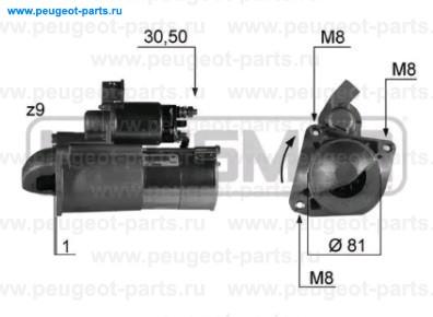 Стартер Ducato 02-> 2.3JTD RUS