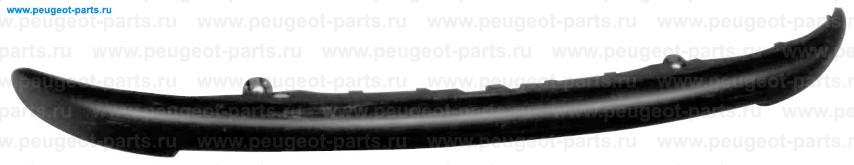 Накладка бампера переднего черная (молдинг) PSA 206