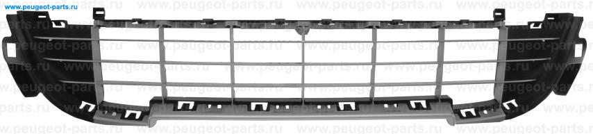 Решетка бампера переднего центр PSA 207 06/09->