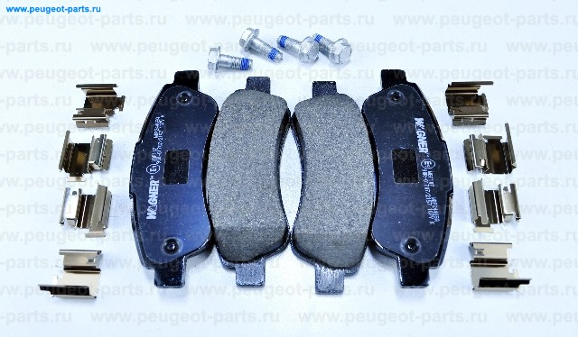Колодки тормозные задние дисковые Ducato (250), Boxer 06->