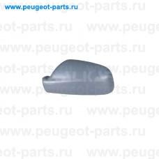 6341307, Alkar, Крышка зеркала левого (под покраску) для Peugeot 307, Peugeot 407, Citroen Xsara 2