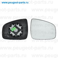 6402594, Alkar, Стекло зеркала правого для Renault Logan 1, Renault Sandero 1