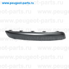 7452AZ, Citroen/Peugeot, Накладка бампера переднего правая (молдинг) для Peugeot 407