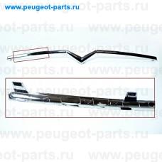 7452WT-SALE, Citroen/Peugeot, Накладка бампера переднего (молдинг) PSA C4 08- хром (С ДЕФЕКТОМ)