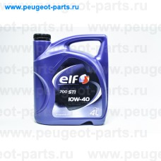 10130501, Elf, Масло моторное ELF EVOLUTION 700 STI 10W40 4 литра