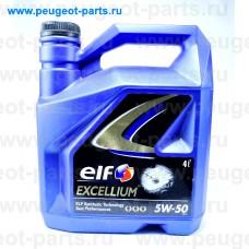 ELF SYNT 5W50-4, Elf, Масло моторное ELF EXCELLIUM 5W50 4 литра