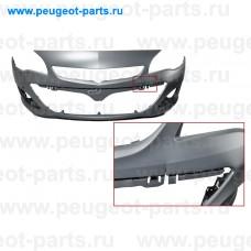 101.38.9130-SALE, EuroStamp, Бампер передний Opel Astra J 01/12 -> 05/15 (+ парктроник) (С ДЕФЕКТОМ)