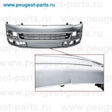 100.18104-SALE, Poliplast, Бампер передний VW Transporter T5  01/09 -> (с парктроником) под покраску (С ДЕФЕКТОМ)