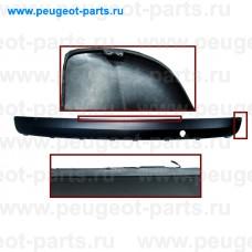 PG3201255-SALE, Prasco, Накладка бампера заднего (молдинг) PSA 207 черная (С ДЕФЕКТОМ)