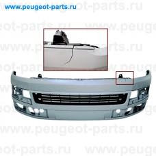 VW9191011-SALE, Prasco, Бампер передний VW Transporter T5  01/09 -> (с парктроником) под покраску (С ДЕФЕКТОМ)