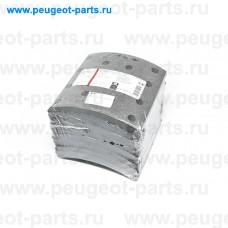 124012, Valeo, Накладки колодок тормозных барабанных для Iveco Eurotrakker, Iveco Trakker